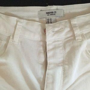 Forever 21 white skinny stretch jeans